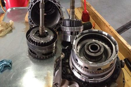 mercedes transmission during rebuild